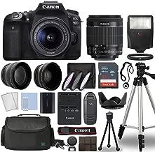 $1189 » Canon EOS 90D Digital SLR Camera Body with Canon EF-S 18-55mm f/3.5-5.6 is STM Lens 3 Lens DSLR Kit Bundled with Complete Accessory Bundle + 32GB + Flash + Case/Bag & More - International Model