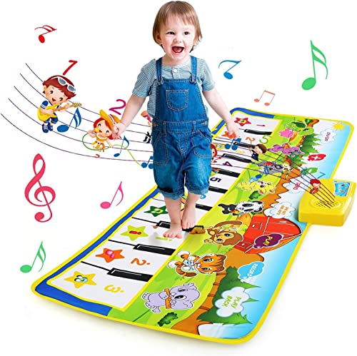 NEWSTYLE Jouet Enfant Garçons Filles,Tapis de Piano Musical Enfant 2 Ans,Jouet de Piano Tapis De Danse Piano Mat,Tapi...