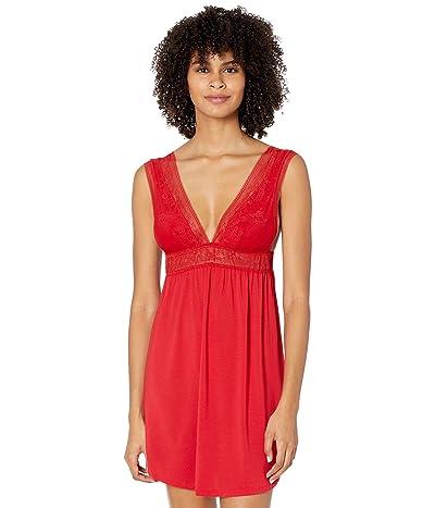 Eberjey Raquel The Double V Chemise (Haute Red) Women