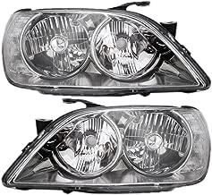 Pair Set HID Combination Headlights Headlamps w/Chrome Bezel Units Replacement for 01-05 Lexus IS300 8118553041 8114553041 AutoAndArt