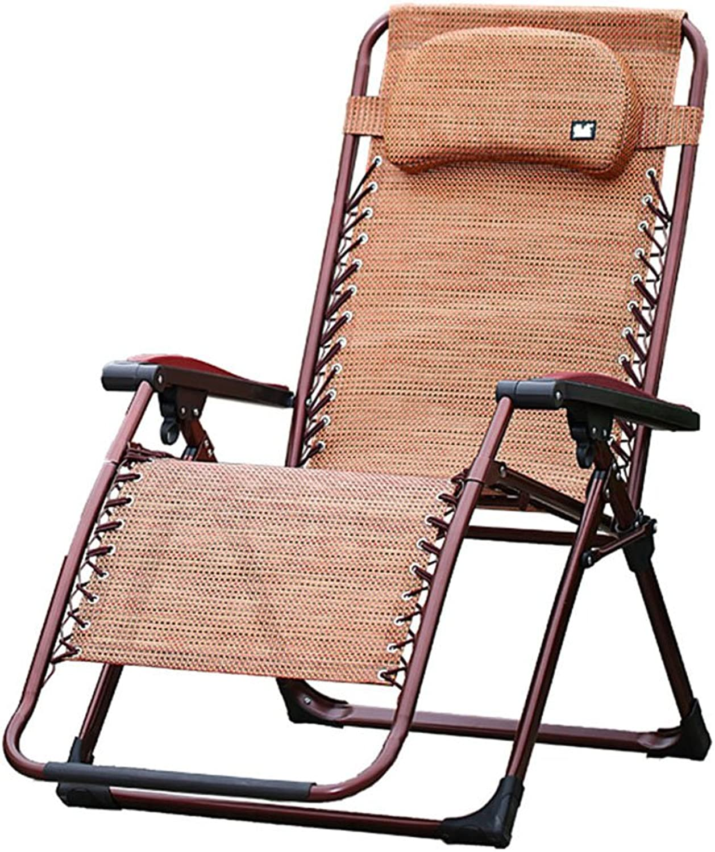 Klappstühle Klappstühle Klappstühle Lounge Chair Lounge Chair Outdoor Büro Nickerchen Chair Schwangere Frau Stühle (Farbe   braun) B07H73PPD1 | Up-to-date-styling  3031c6