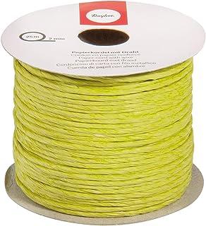 Rayher 5116011 Papierkordel mit Draht, 2mm Durchmesser, h.grün, Rolle 25m