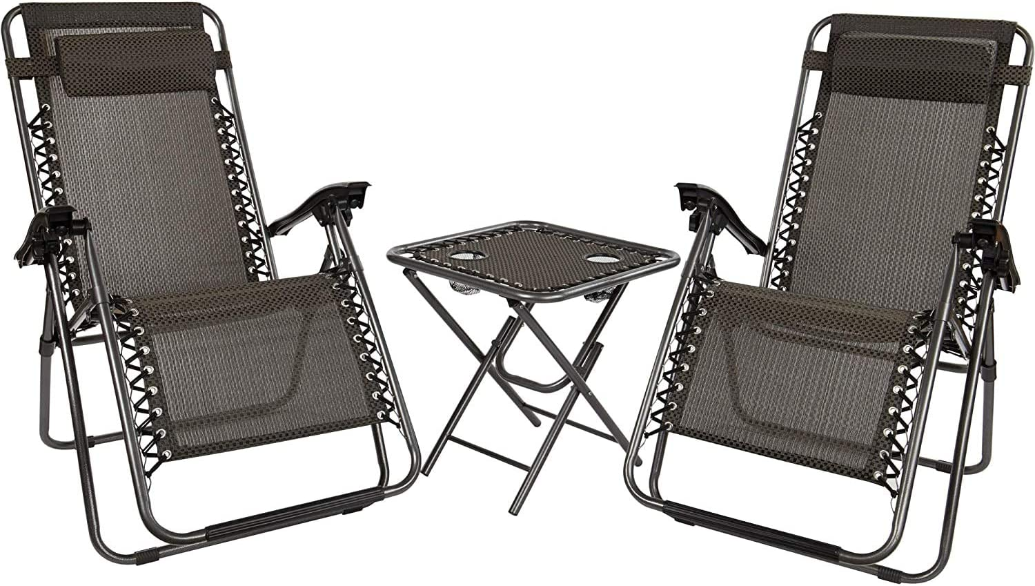 JTF Mega Discount Warehouse Bistro Table and Multi Position Relaxer Chairs  Set