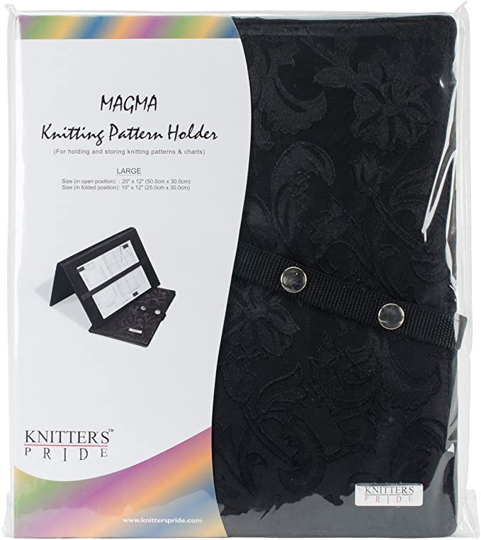 New Knitter/'s Pride Knitting Pattern Holder Fold-Up Chart Keeper Various Colors