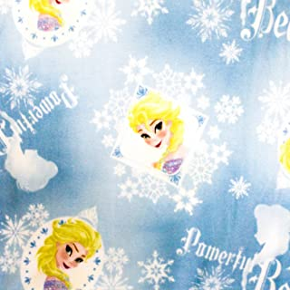 """Disney Frozen Powerful Beauty Elsa Anti Pill Premium Fleece Fabric, 60"""" Inches Wide – Sold By The Yard (FB)"""