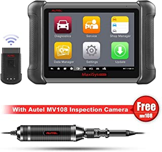 Autel Maxisys MS906BT Bluetooth Automotive Diagnostic Tool with OE-level Diagnostics and ECU Coding Capability,Oil Reset Service,TPMS,EPB,ABS/SRS,SAS,DPF,Upgraded Version of DS808/MS906/MK808