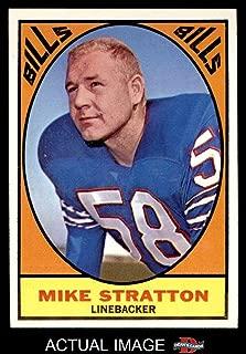 1967 Topps # 29 Mike Stratton Buffalo Bills (Football Card) Dean's Cards 7 - NM Bills