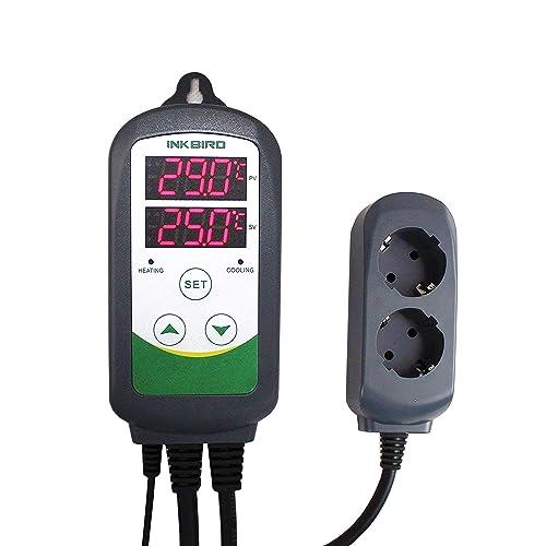 Inkbird ITC-308 Doble Rele 220v Digital Termostato con Sonda, Controlador de Temperatura Refrigeración