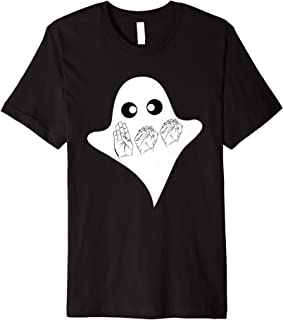 BOO ASL Sign Language Funny Ghost Halloween T-Shirt