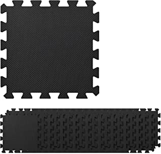 Navaris Alfombra puzle para Fitness - x20 esteras Antideslizantes 30x30x1CM 1.8M² - Colchoneta Extensible Protectora para Entrenamiento Deportivo