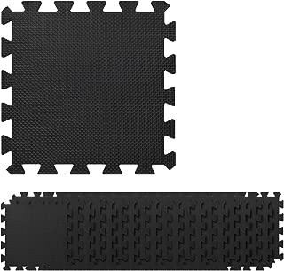 Navaris Interlocking Foam Floor Mats - 20 Pieces (12 x 12 x 0.4 inches) EVA Puzzle Tiles Protective Flooring for Sports Exercise Gym - 19.8 sq ft Area