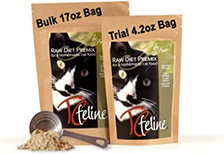 TCfeline RAW Cat Food Supplement/Premix for a Homemade, All Natural, Grain Free, Holistic Diet – Original Version with No ...