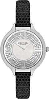 Kenneth Cole Women's Classic Mop Crystal Dial KC51054005 Silver Leather Quartz Fashion Watch
