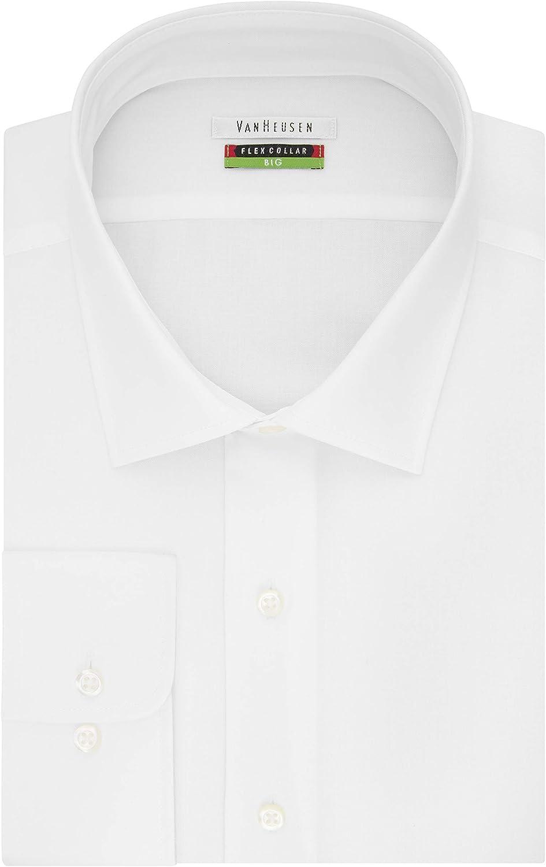 Van Heusen Men's BIG FIT Dress Shirts Flex Collar Solid (Big and Tall)