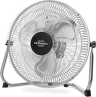 Orbegozo PW 1230 - Ventilador industrial Power Fan, inclinación regulable, aspas metálicas de 30 cm, 3 velocidades de ventilación, asa de transporte, 45 W