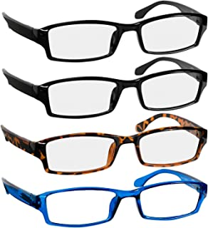 Reading Glasses 2.5 2 Black Tortoise Blue Fashion Readers for Men & Women - Spring Arms & Dura-Tight Screws Have a Stylish Look and Crystal Clear Vision When You Need It!