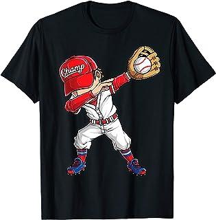 Dabbing Baseball T Shirt Kids Boys Men Catcher Pitcher Gifts T-Shirt