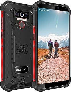 OUKITEL WP5 simフリースマホ本体 8000mAh大容量バッテリースマートフォン 32GB+4GB(256GBまで対応可能 5.5インチ 防水スマホ Andriod10 顔認証 指紋認識 技適認証済み 1 付き(ブラック)