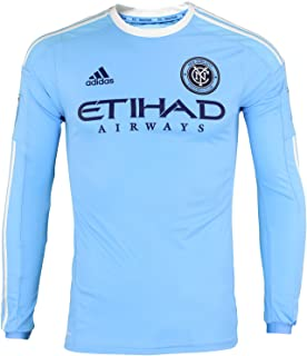 Adidas New York City FC 2016 Authentic Long Sleeve Home Jersey [Light Blue]