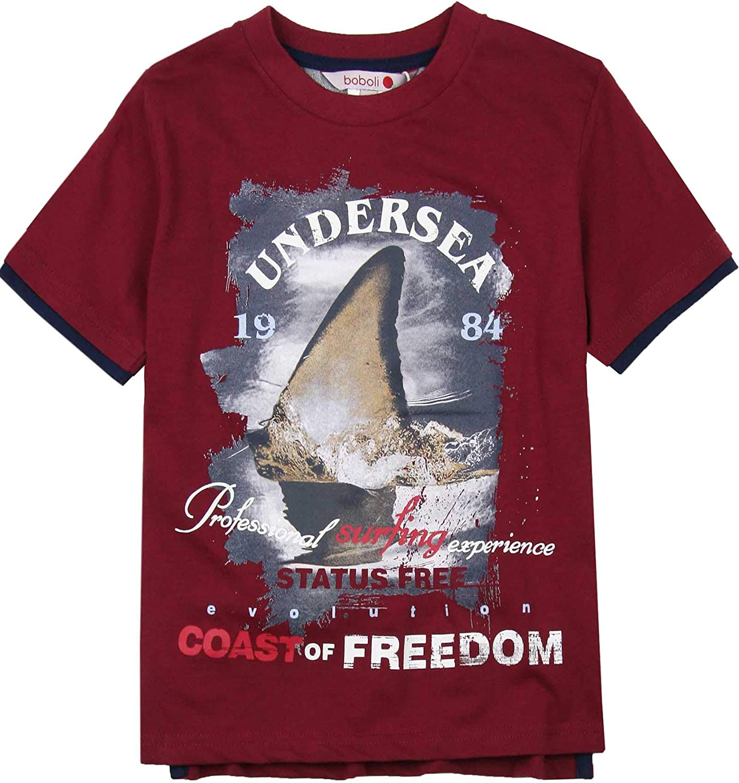 Boboli Boys T-Shirt with Shark Print, Sizes 4-16