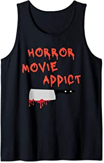 Horror Movie Addict Scary Movie Lover Graphic Tank Top