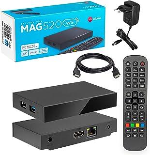 MAG 520w3 Original Infomir & HB-DIGITAL 4K IPTV Set TOP Box Multimedia Player Internet TV IP Receiver # 4K UHD 60FPS 2160p...