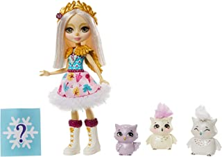 Enchantimals Family Toy Set, Odele Owl Small Doll (6-in) with 3 Owl Animal Friends, Great  3-8 Year Olds [Amazon Exclusive]