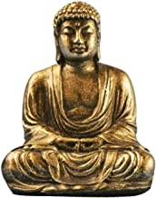 PPCP Mini Harmony Innovative Exquisite Buddha Statue Resin Valuable Sculpture Meditating Antique Style Home Decor (Color :...