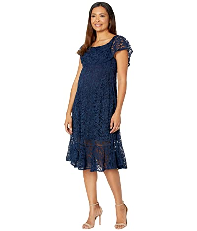 NOM Maternity Lucia Lace Off-the-Shoulder Dress