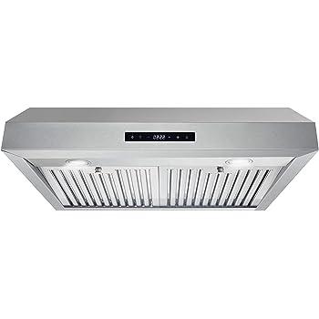 "Cosmo UMC30 Stainless Steel Under Cabinet Range Hood, 30"""
