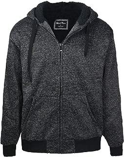 Mens Hoodies Zip Up Sherpa Lined Heavyweight Workout Winter Sweatshirt Jackets