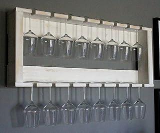 qiuxiaoaa Portabicchieri in bamb/ù Portabicchieri Porta Tazze 6 Tazze per Tazze da caff/è Espositore piattino Ripiano in Vetro bamb/ù