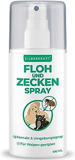 Silberkraft Floh - und Zeckenspray 100 ml für Hund, Katze und andere Haustiere - ideales Anti-Zecken Mittel - gegen Flöhe, Zecken, Parasiten, Ungeziefer