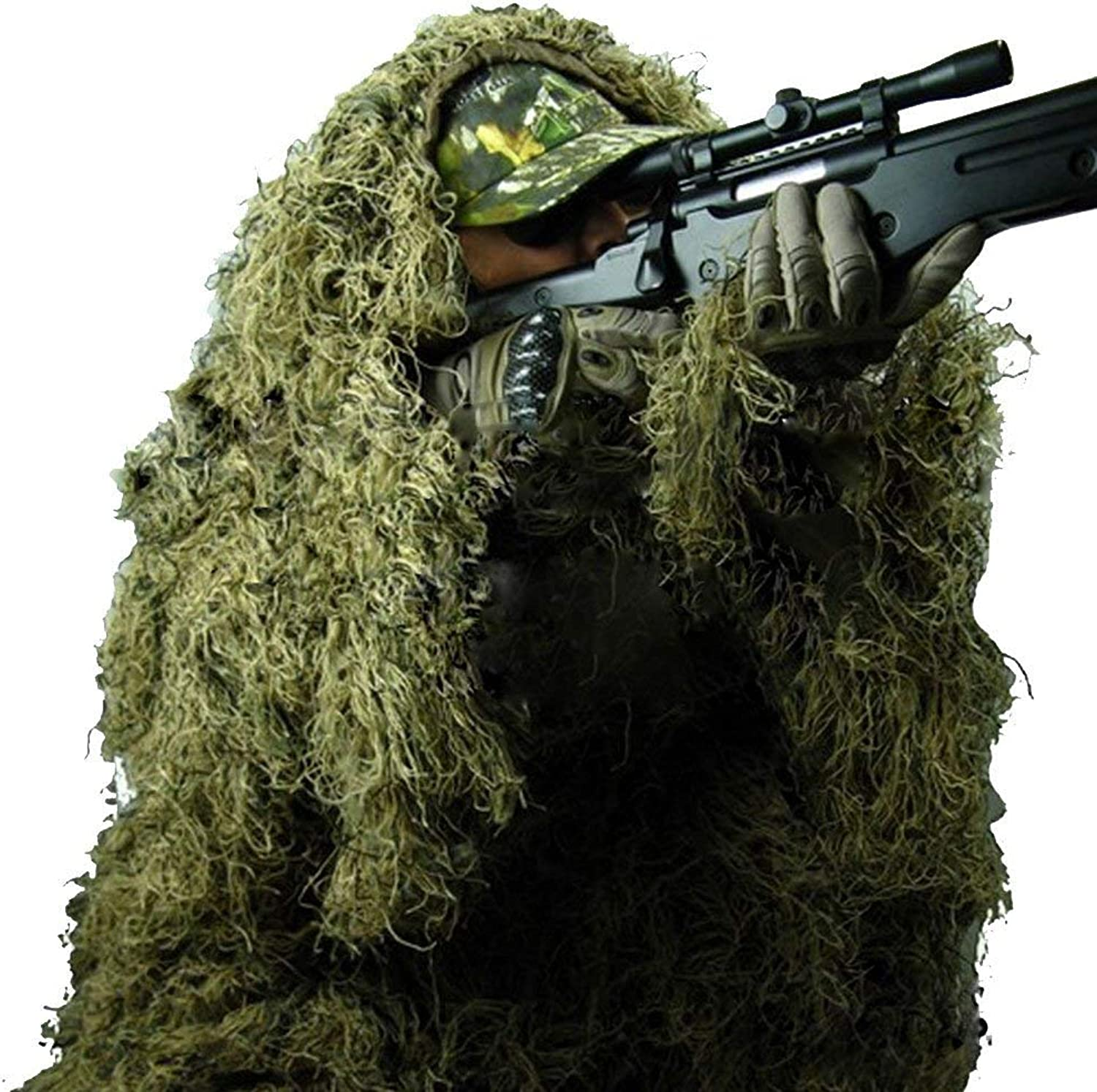 Camo Suits Ghillie Suits 3D Woodland Camouflage Clothing Army Sniper Military Clothes Pants Jungle Hunting,Shooting, Airsoft,Wildlife Photography,Halloween