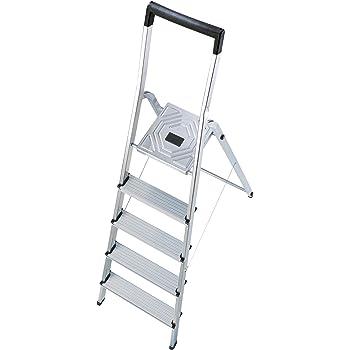 Hailo l40 easyclix - Escalera domestica l40 5 peldaños 168cm aluminio: Amazon.es: Bricolaje y herramientas