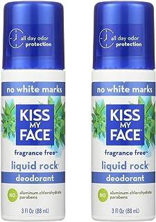 Kiss My Face Paraben Free Liquid Rock Roll-On Deodorant, Fragrance Free - 3 oz - 2 pk
