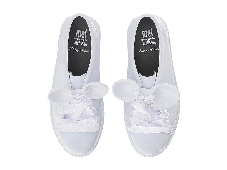 Mini Melissa Mel Be + Disney (Little Kid/Big Kid) (White/Black) Girl