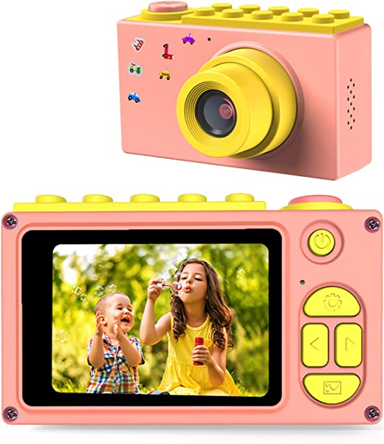 ShinePick Cámara de Fotos para NiñosMini Video Cámara Zoom Digital de 4X / 8MP / 2 TFT LCD de la Pantalla con Tarjeta de Memoria (Rosa)