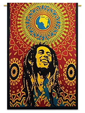 Third Eye Export Decorative Bob Marley One World Tapestry Wall Decor/Ethnic Wall Hanging Art/Hippie Wall Art/Boho Poster (Bob Marley)