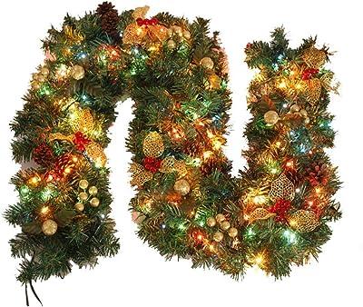 Treer Guirnalda de Navidad Decoración, Led para Árbol Artificial ...