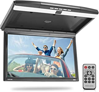 15.6-Inch Overhead Flip-Down Car Monitor - Hi-Res 1680x800p Widescreen Car Roof Mount Monitor, Vehicle Flip Down Overhead ...