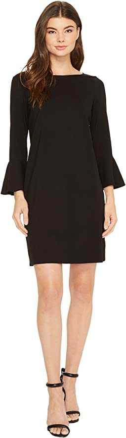 Three Dots - Shift Dress with Flounce