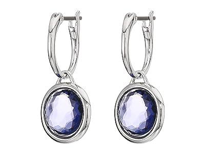 Swarovski Tahlia Mini Hoop Pierced Earrings (Purple) Earring