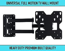 Caprigo Super Heavy Duty TV Wall Mount Bracket for 14 to 43 inches LED/4K/UHD/Smart TV, Universal Full Motion Tilt & Swivel TV Wall Stand (Black-C223)
