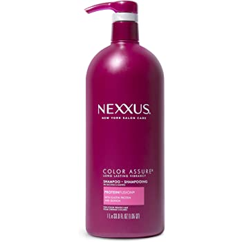 Nexxus Color Assure Sulfate-Free Shampoo For Color-Treated Hair with ProteinFusion for Enhanced Color Vibrancy, Silicone Free Shampoo with Pump 33.8 oz