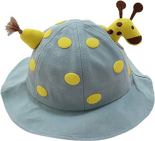 Cute Cartoon Bucket Hat for Kids, Summer Sun Cap Girls Fisherman Hat, Baby Sun Bucket Hat Animal Bucket Hat Cap