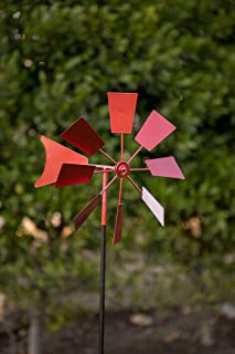 Alpine Metal Windmill Stake, Red, 52