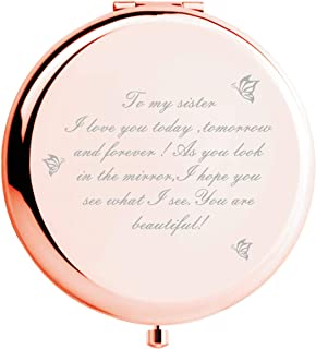Sister Gifts from Sister Brother, Sisters Birthday Gift Ideas, for Girls,Great Gifts for Mothers Day, Graduation Present for Her (Rose Gold)