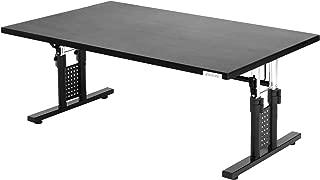 Bauhutte (バウヒュッテ) ローデスク 昇降式 ゲーミングデスク 座椅子と相性ばつぐん グレー (幅100cm×奥行60cm) BHD-1000L