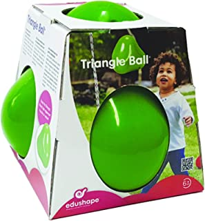 Wobbles Triangle Shaped Sensory Ball - Bright Green Therapeutic Toy Can Be Tossed And Bounced Around - Unique Shape Entert...